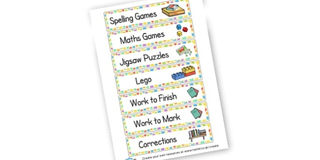 Classroom and Cupboard Labels - Classroom Signs & Label Primary Resources, labels, posters, rules