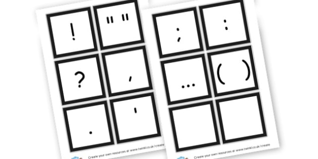 Punctuation Flashcards - Punctuation Primary Resources, Punctuation, SPaG, SPaG Resources