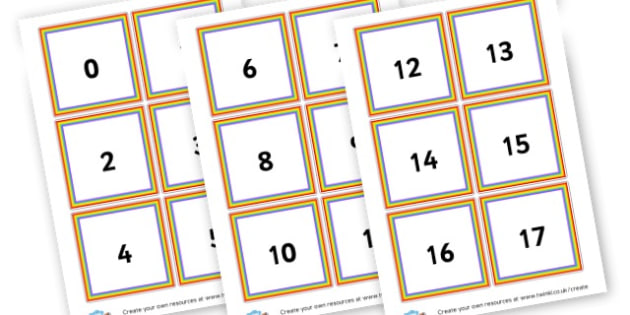 Number Cards - Number Primary Resources, numbers, maths, numeracy, counting, NUMRCEY