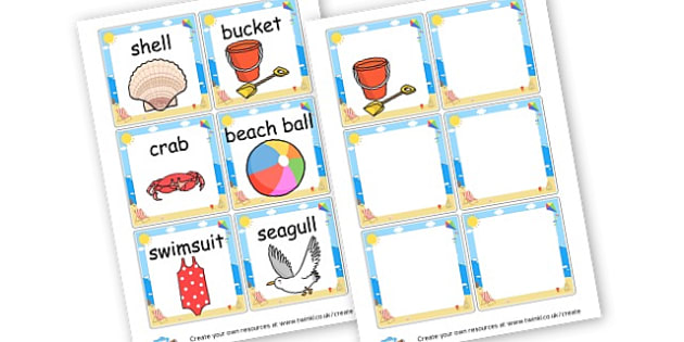 Seaside Word Cards - The Seaside Activities Primary Resources, beach, sun, sand
