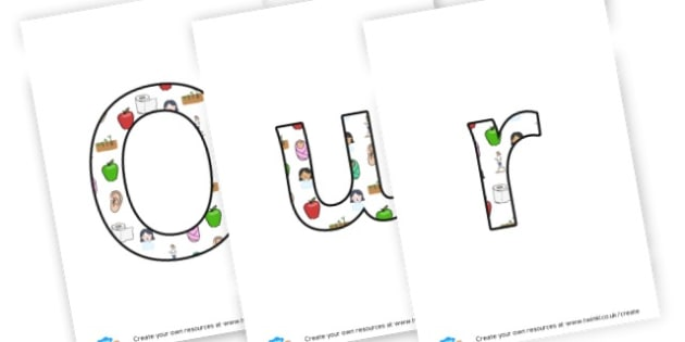 Ourselves - display lettering - Ourselves & All About Me Display Primary Resources, bodies