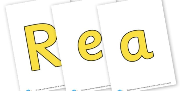 Reading - Display Lettering - Reading Area Primary Resources, signs, area, zones, banner, poster