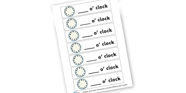 Time - Hour Own Times Cards - KS2 Time Worksheets Primary Resources, Time Worksheets, Clock, KS2