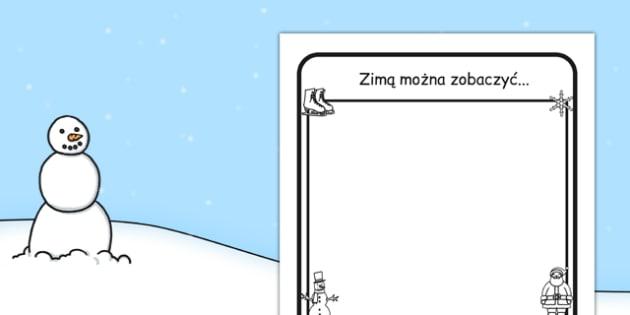 Arkusz Zimą można zobaczyć po polsku - opis, wycieczka