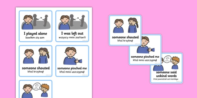 SEN Communication Cards Explanations Boy Polish Translation - polish, SEN, communication cards, places, my environment, Visual Timetable, SEN, Daily Timetable, boys, School Day, Daily Activities, Daily Routine KS1