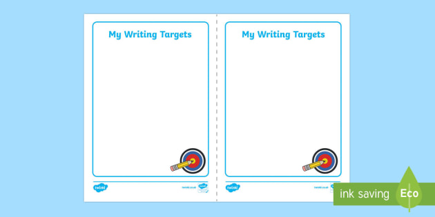 Writing Target Cards - writing targets, cards, write, writing, targets