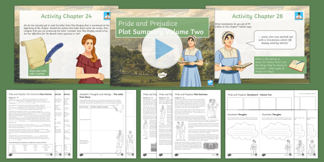 Pride and Prejudice Lesson Pack - Plot, Volume Two  - Pride and Prejudice, Jane Austen, Elizabeth Bennet, Literary Heritage Prose, GCSE English Literature
