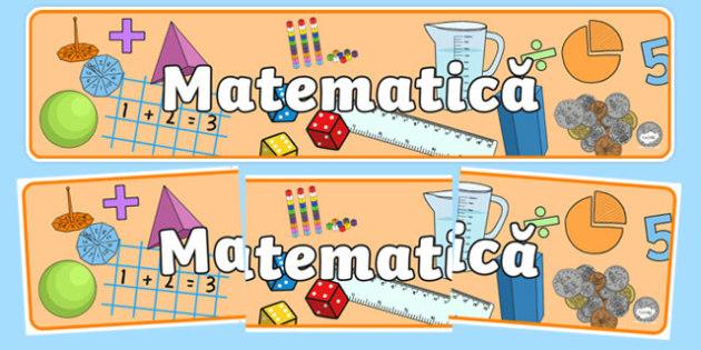 Matematică - Banner