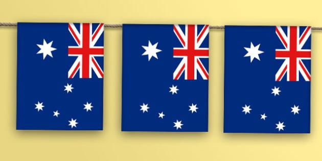Australia Flag Bunting - australia flag, australia, flag, bunting, display bunting, display