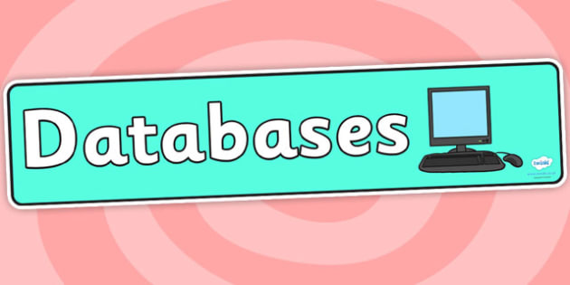 Databases Display Banner - databases, display banner, banner for display, display, banner, header, header for display, display header, class display, ICT