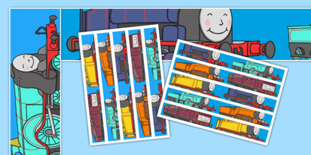 Talking Steam Train Themed Display Borders - thomas the tank engine, talking steam train, display borders