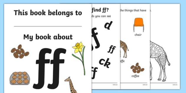 My Phase 2 Digraph Workbook (ff) - Digraph Formation, Phase 2