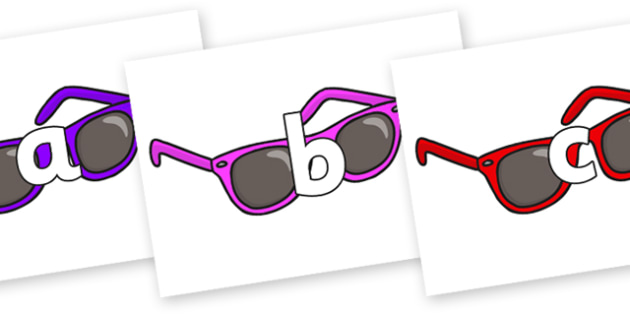 Phoneme Set on Sunglasses - Phoneme set, phonemes, phoneme, Letters and Sounds, DfES, display, Phase 1, Phase 2, Phase 3, Phase 5, Foundation, Literacy