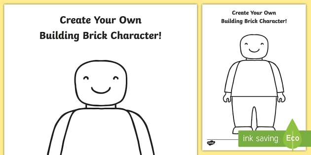 create your own toy character colouring template design art