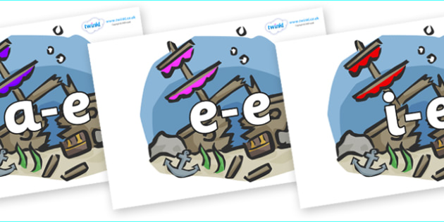 Modifying E Letters on Ship Wrecks - Modifying E, letters, modify, Phase 5, Phase five, alternative spellings for phonemes, DfES letters and Sounds