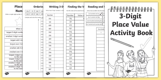back to school place value revision 3 digit numbers activity booklet scottish. Black Bedroom Furniture Sets. Home Design Ideas
