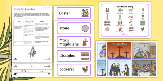 The Easter Story A Sensory Story Resource Pack - easter, SEN, sensory, PMLD, P Scales