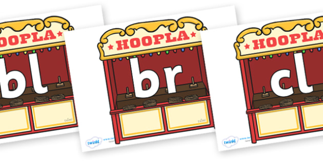 Initial Letter Blends on Hoopla Stands - Initial Letters, initial letter, letter blend, letter blends, consonant, consonants, digraph, trigraph, literacy, alphabet, letters, foundation stage literacy
