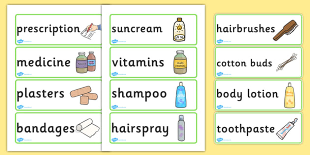 Pharmacy Role Play Labels - roleplay, props, pharmacy, doctors