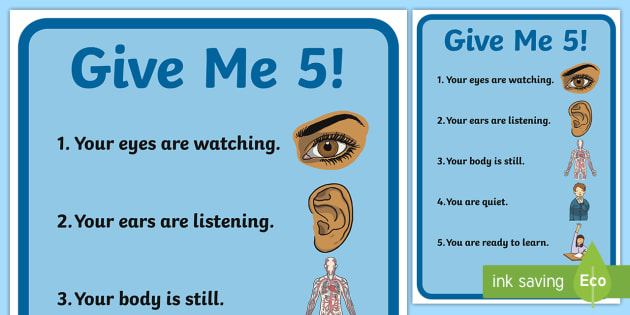 Give Me Five Display Poster - give me 5, management