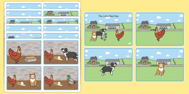 T T 5963 The Little Red Hen Story Sequencing Cards on Putting Events In Order