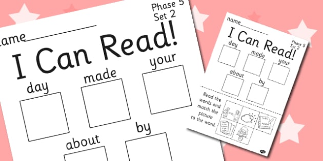 I Can Read Phase 5 Set 2 Words Activity Sheet - phase 5, activity, worksheet