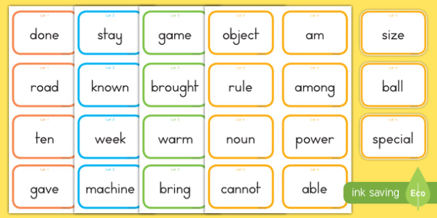 Fry Words The Fifth Hundred Flashcards
