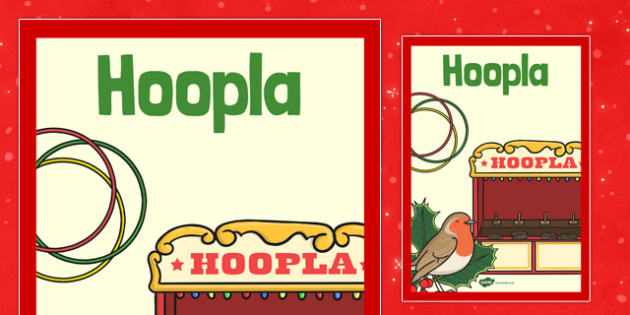 Christmas Themed Hoopla Poster - christmas fair, display poster, display, poster, hoopla