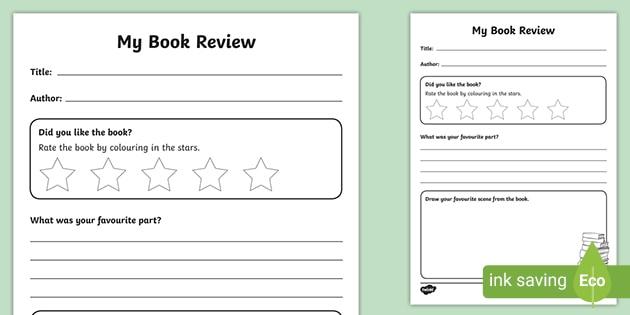 FREE! - Book Review Writing Frame (teacher Made)