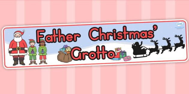 Australia Father Christmas Grotto Display Banner - christmas, banner, xmas