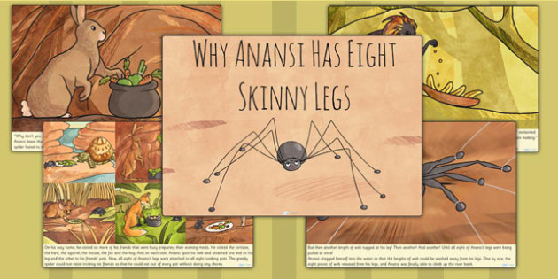 Why Anansi Has Eight Skinny Legs Creation Story - myths, history