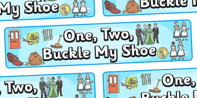 photo regarding One Two Buckle My Shoe Printable identify One particular, 2, Buckle My Shoe - Schooling Components - Twinkl