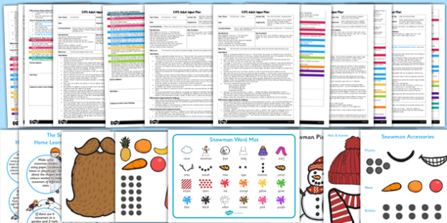 EYFS Adult Input Planning and Resource Pack to Support Teaching on The Snowman - EYFS, early years planning, Christmas, winter