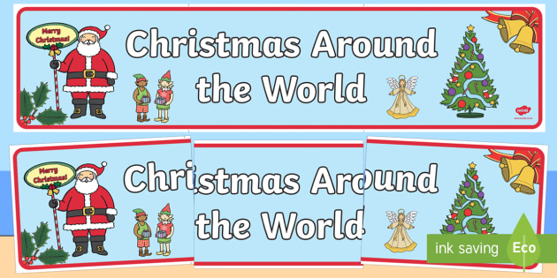 Australia Christmas Around The World Display Banner - christmas, banner