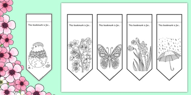Spring Mindfulness Bookmarks to Colour (teacher made)