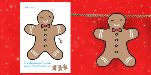 Christmas Gingerbread Man Bunting - christmas, xmas, bunting, gingerbread, gingerbread man, gingerbread men on bunting, christmas themed bunting, decorations, christmas decorations, classroom decorations