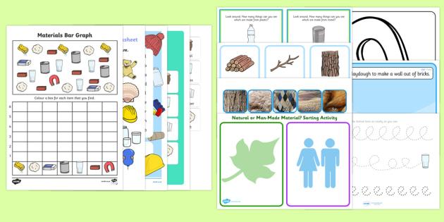 Top Ten Materials Activity Pack - Materials, materials and their properties,