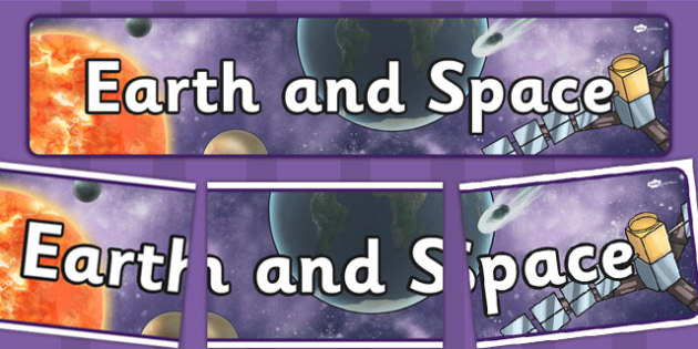 Earth and Space Display Banner - display, banner, earth, space