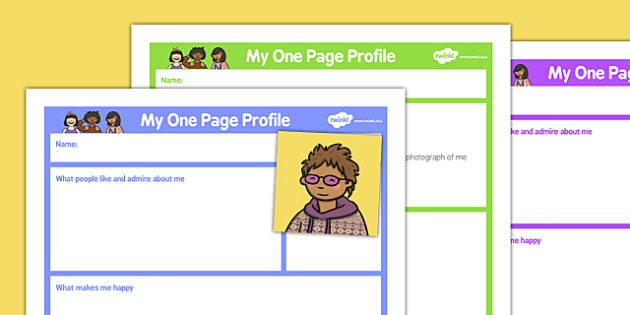 My One Page Profile Various - one page, profile, various, one, page, activity