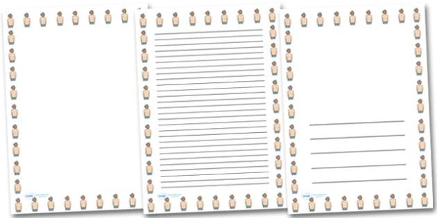Back Portrait Page Borders- Portrait Page Borders - Page border, border, writing template, writing aid, writing frame, a4 border, template, templates, landscape