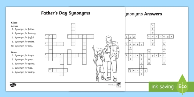 Fathers day synonym crossword father dad vocabulary ccuart Images
