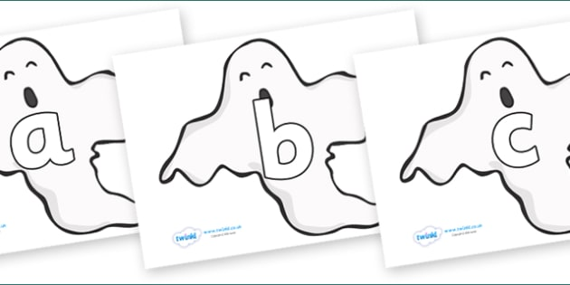 Phoneme Set on Ghosts (Plain) - Phoneme set, phonemes, phoneme, Letters and Sounds, DfES, display, Phase 1, Phase 2, Phase 3, Phase 5, Foundation, Literacy