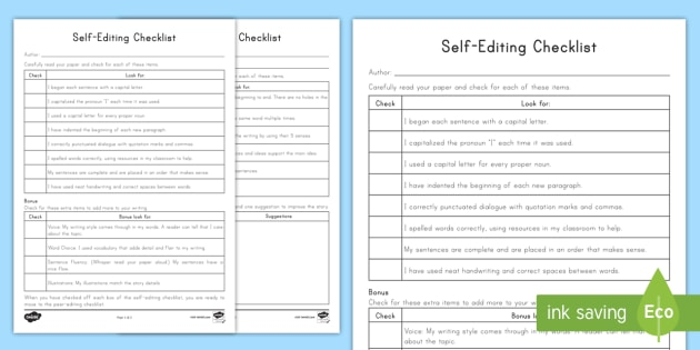 esl essay editing checklist Grammar girl's editing checklist   ▢ wrong  word affect/effect, lay/lie, sit/set, who/whom, toward/towards, etc .