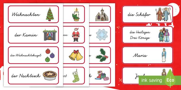 Weihnachten Wörter.Weihnachten Wort Und Bildkarten Weihnachtlich Dezember Fest