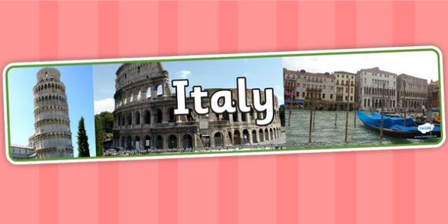 Italy Photo Display Banner - Italy, Display Banner, Banner, Display, Italian Banner, Themed Banner, Italy Display Banner, Photo Banner
