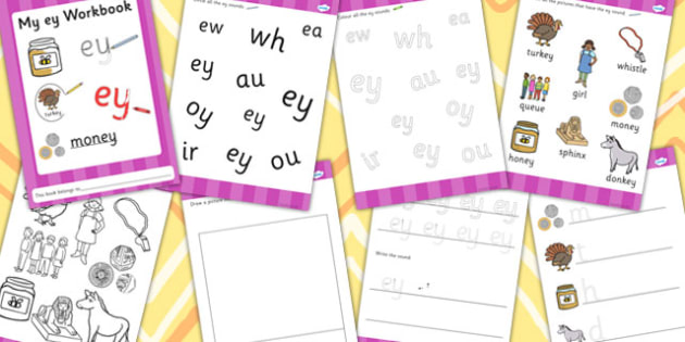 Phase 5 'ey' Grapheme Workbook - phase 5, ey, grapheme, workbook