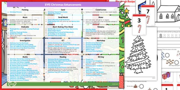 EYFS Christmas Themed Enhancement Ideas and Resources Pack - christmas, eyfs, enhancement, ideas, planning
