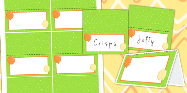 Jungle Themed Birthday Party Editable Food Lables - jungle, party