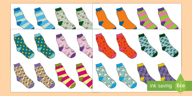 Hunt the Pair and Find a Partner Sock Resource - socks, resource