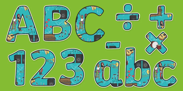Sound Themed Display Letters and Numbers Pack - Science lettering, Science display, Science display lettering, sound, display lettering, display, letter, number